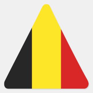 The Flag of Belgium Triangle Sticker