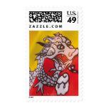 the flag of Bhutan Postage Stamps