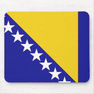 The flag of Bosnia and Herzegovina Mouse Pad