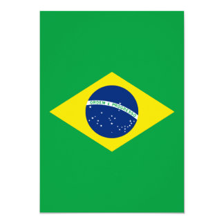 The Flag of Brazil 5x7 Paper Invitation Card