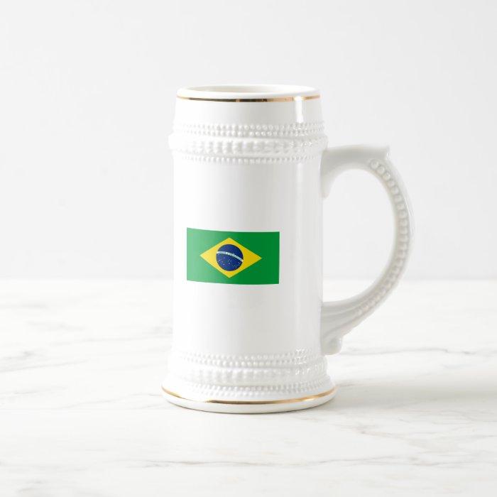 The Flag of Brazil Beer Stein