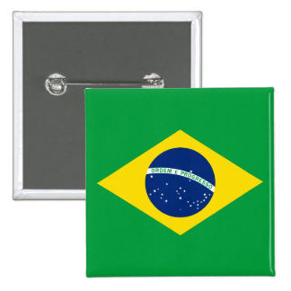 The Flag of Brazil 2 Inch Square Button