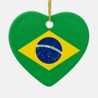 The Flag of Brazil Ceramic Ornament