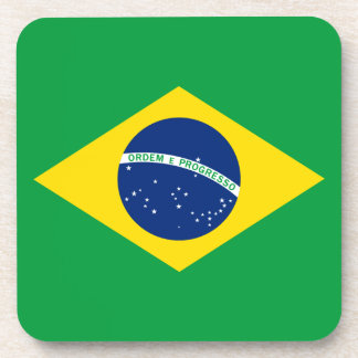 The Flag of Brazil Drink Coaster