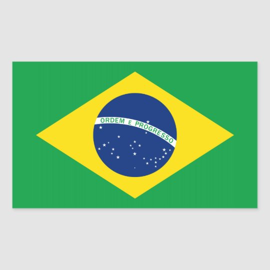 The Flag of Brazil Rectangular Sticker