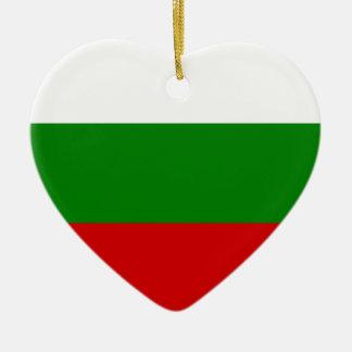 The Flag of Bulgaria Ceramic Ornament