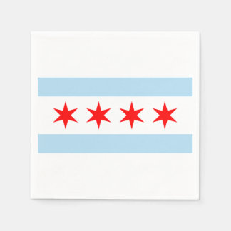 The Flag of Chicago Paper Napkin