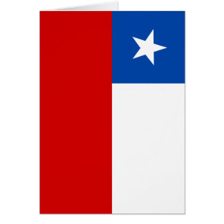 The Flag of Chile Card