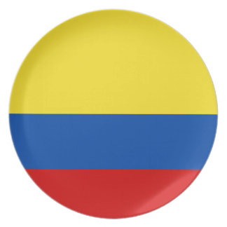 The Flag of Colombia Dinner Plate