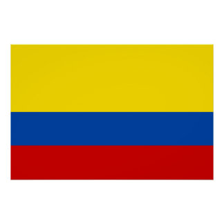 The Flag of Colombia Posters