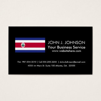 The Flag of Costa Rican Business Card