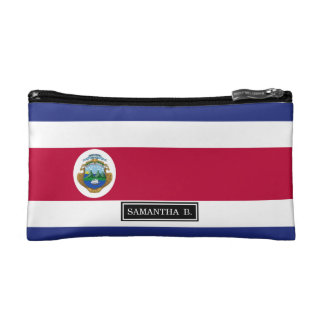 The Flag of Costa Rican Cosmetic Bag