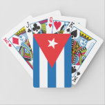 "The Flag of Cuba Bicycle Playing Cards<br><div class=""desc"">The flag of Cuba in red white and blue.  The flag was modeled after the American flag and was never changed after Cuba was taken over.</div>"