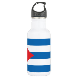 The Flag of Cuba Water Bottle