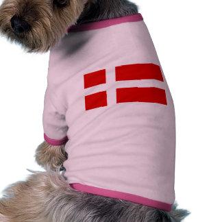 The Flag of Denmark Doggie Tee Shirt