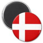 The Flag of Denmark Fridge Magnet