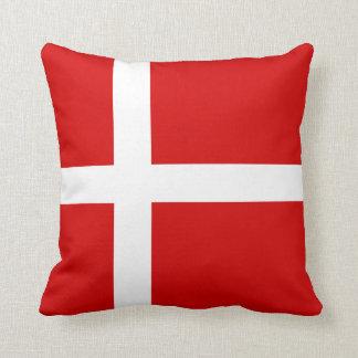 The Flag of Denmark Throw Pillow