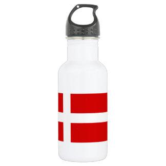 The Flag of Denmark Stainless Steel Water Bottle