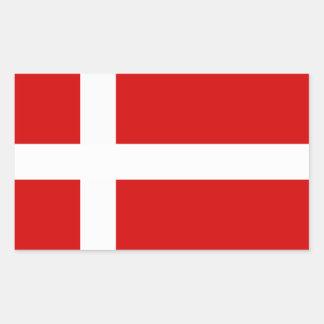 The Flag of Denmark Rectangular Sticker