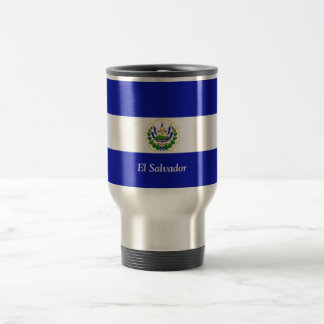 The Flag of El Salvador. 15 Oz Stainless Steel Travel Mug