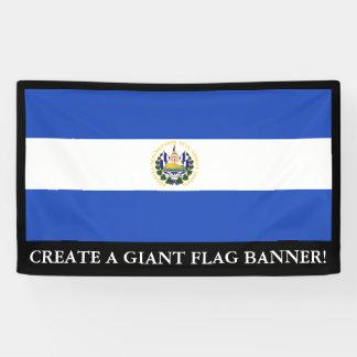 The flag of El Salvador Banner