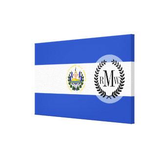 The flag of El Salvador Canvas Print