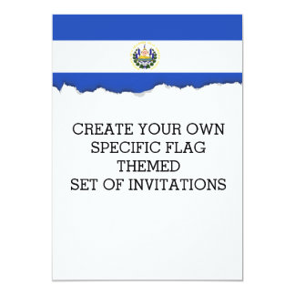 The flag of El Salvador Card