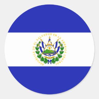 The Flag of El Salvador. Classic Round Sticker