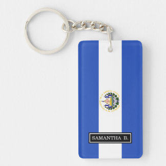 The flag of El Salvador Keychain