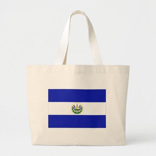 The Flag of El Salvador. Large Tote Bag