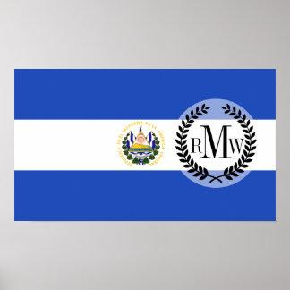 The flag of El Salvador Poster