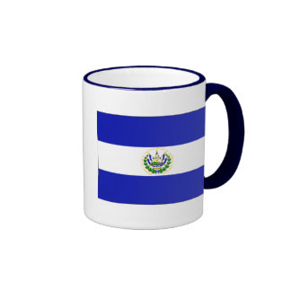 The Flag of El Salvador. Ringer Coffee Mug