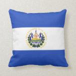 The Flag of El Salvador Throw Pillow