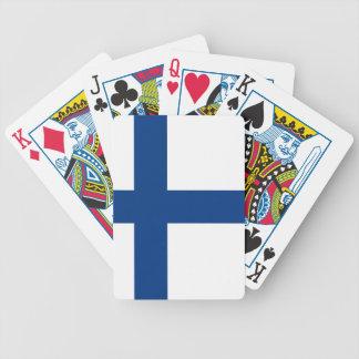 The Flag of Finland - Siniristilippu Bicycle Playing Cards
