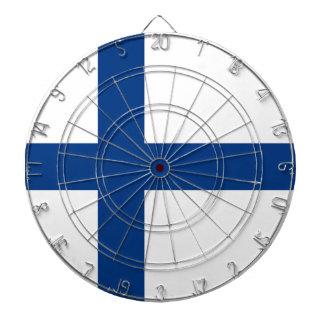 The Flag of Finland - Siniristilippu Dartboard