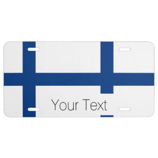 The Flag of Finland - Siniristilippu License Plate