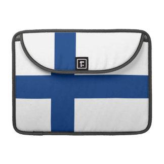 The Flag of Finland - Siniristilippu MacBook Pro Sleeve