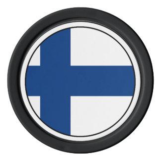 The Flag of Finland - Siniristilippu Set Of Poker Chips