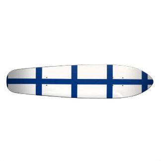 The Flag of Finland - Siniristilippu Skateboard