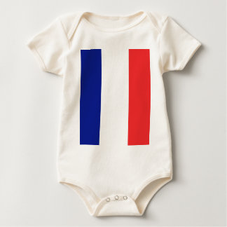 The flag of France or Tricolor Baby Bodysuit