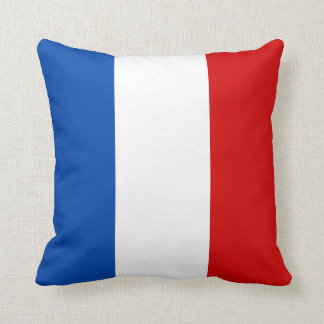 The Flag of France Throw Pillow