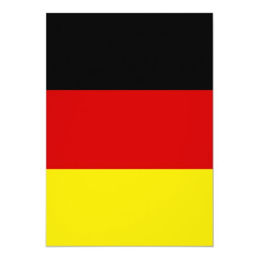 "The Flag of Germany 5"" X 7"" Invitation Card"