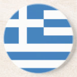The Flag of Greece Beverage Coasters