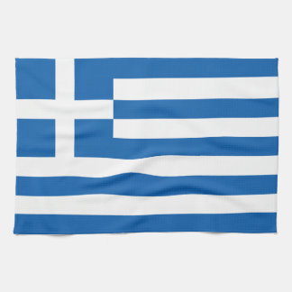 The Flag of Greece Kitchen Towel