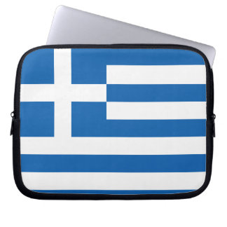The Flag of Greece Laptop Sleeve