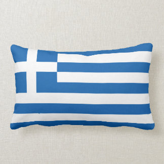 The Flag of Greece Lumbar Pillow