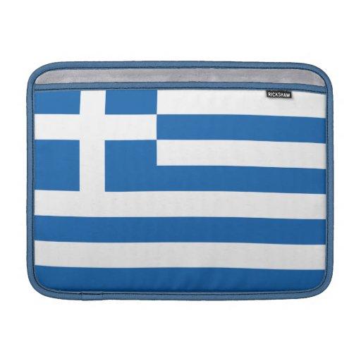 The Flag of Greece MacBook Air Sleeves