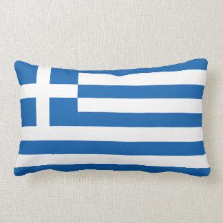 The Flag of Greece Throw Pillows