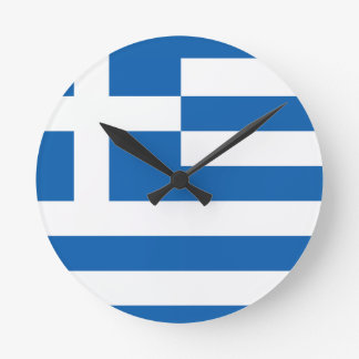 The Flag of Greece Round Clock