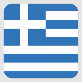 The Flag of Greece Square Sticker